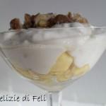 Crema al cocco con castagne e mele