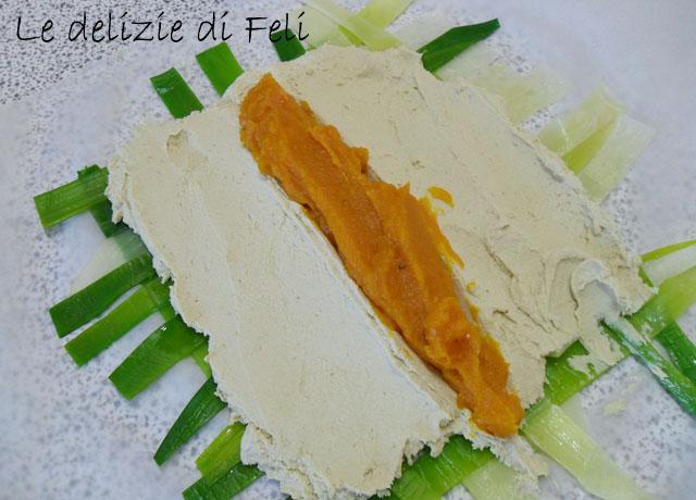 tofu in sfoglia di porri