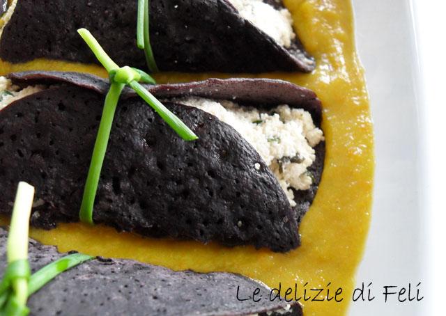 Crespelle di riso nero fermentato