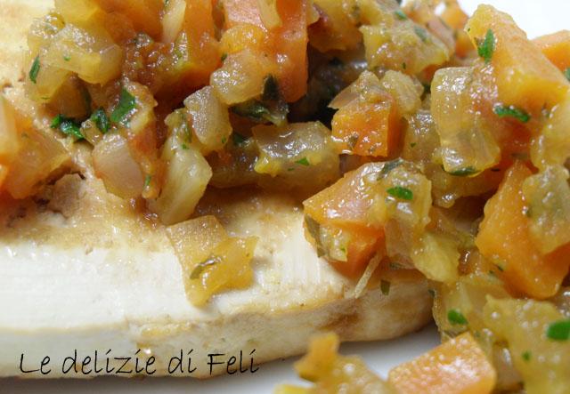 tofu con verdure in agrodolce