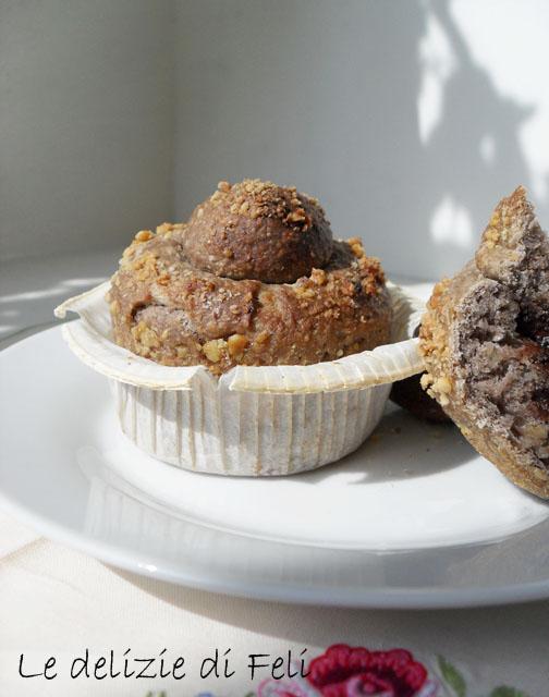 muffin alle noci e cioccolato