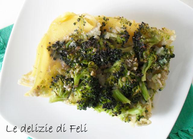 lasagne con topinambur e broccoli