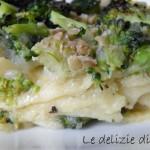 Lasagne senza glutine con crema di topinambur e broccoli