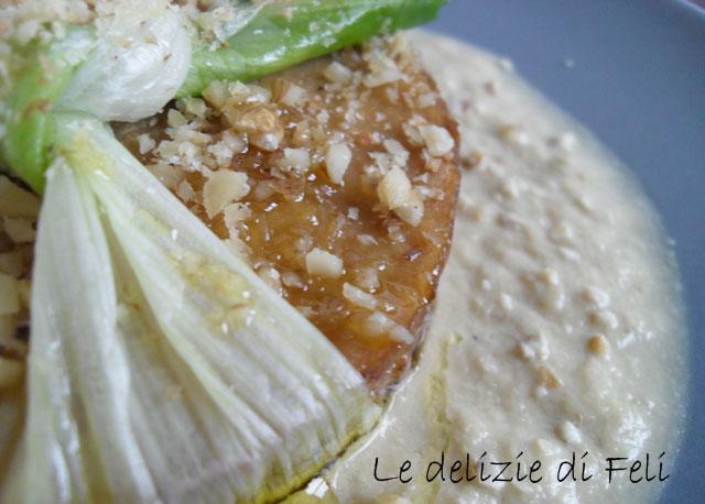 seitan ripieno con salsa di porri