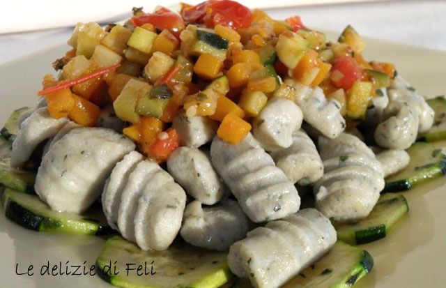 gnocchi di tofu al basilico
