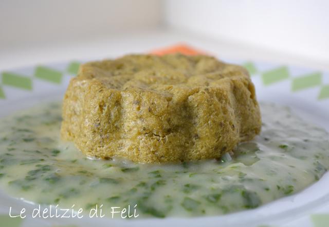 sformatino di tofu e spinaci