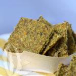Raw-Crackers di zucchine alla menta