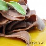 Tagliatelle al cacao con salsa di zucca