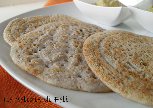 crespelle di grano saraceno fermentato