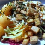 Tofu in insalata