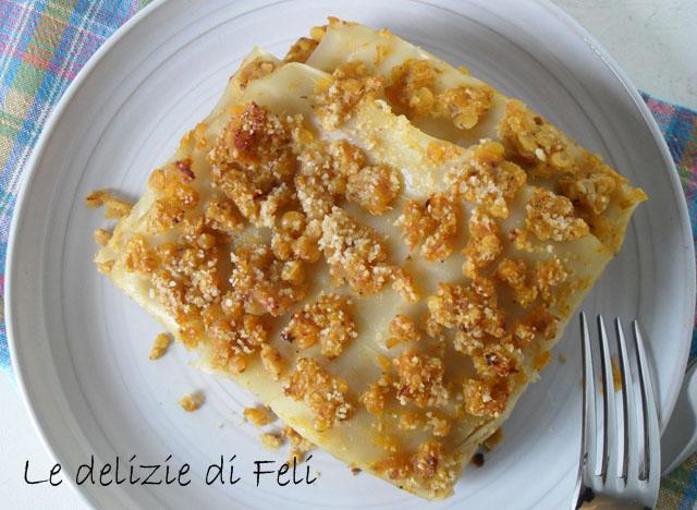 lasagne con ragu di lenticchie