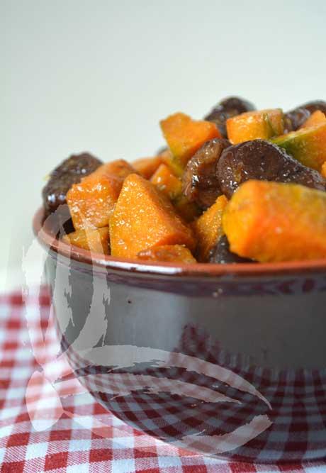 Zucca e castagne al forno