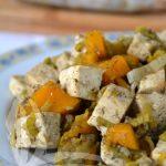 Tofu con i porri al cartoccio