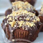 Muffin di melanzane al cacao e noci