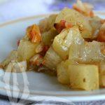 Zucchina lunga con pomodoro al forno