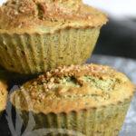 Muffin salati con zucchine e basilico